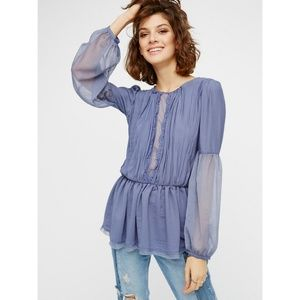 Free People - Soul Serene Pleated Peplum Blouse